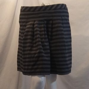 GAP Fit and Flare Striped Skirt